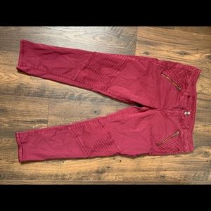American eagle wine colored pants